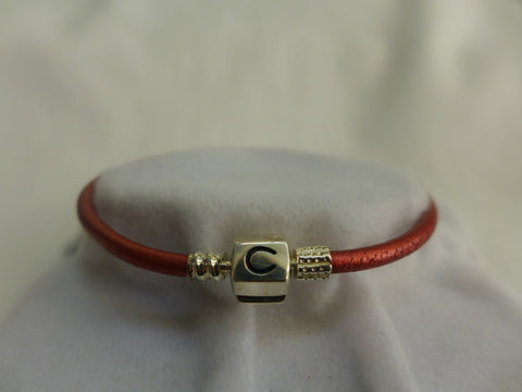 Chamilia Red leather Snap Bracelet