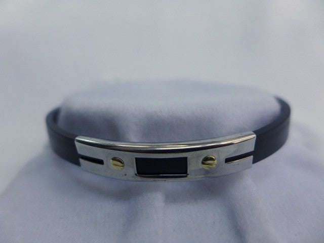 Gents Steel & Rubber Bracelet
