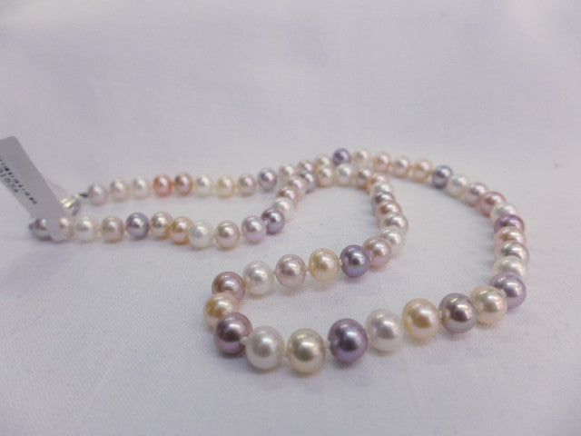 Cultured Fresh Water Multi Coloured Pearl Necklace