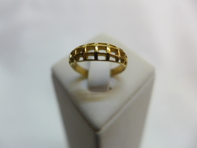 9Ct Gold Patterned Toe Ring