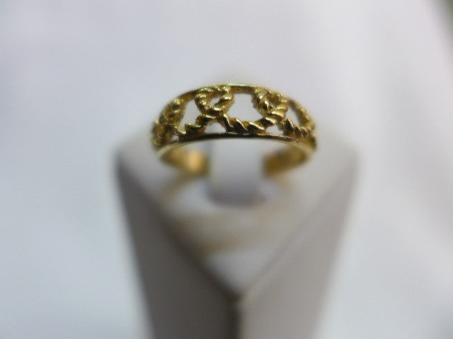 9Ct Gold Rope Toe Ring
