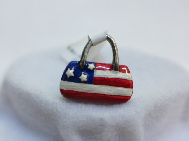 Sterling Silver USA Purse Pendant