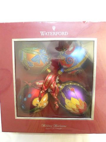 Waterford Christmas Beaded Egg Ornaments/ Balls