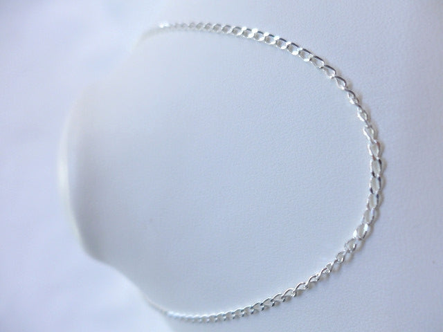Sterling Silver Open Curb 40cm Chain
