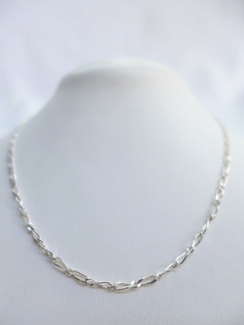 Sterling Silver Figaro 1:1 45cm Chain