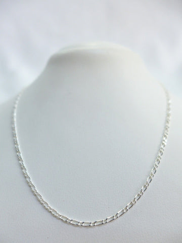 Sterling Silver Figaro 1:1 40cm Chain