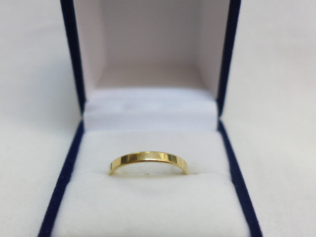 9Ct Gold 2.5mm Flat Band