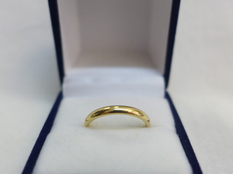 9Ct Gold Half Round 2.5mm Comfort Curve Band