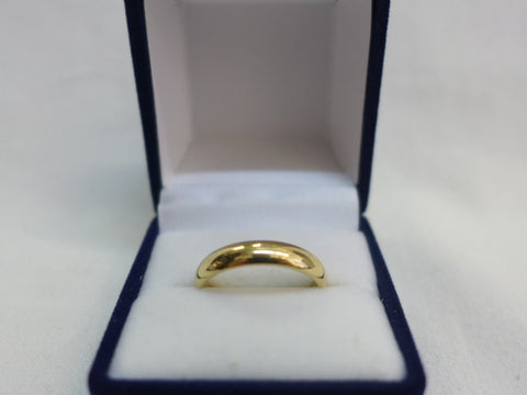 9Ct Gold Half Round 4mm Comfort Curve Band