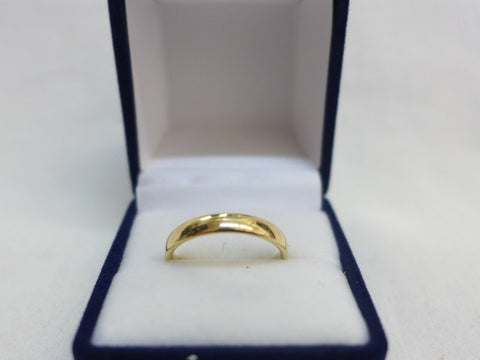 9Ct Gold Ellipse 3.5mm Comfort Curve Band