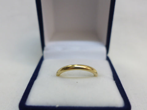 9Ct Gold Ellipse 2.5mm Comfort Curve Band