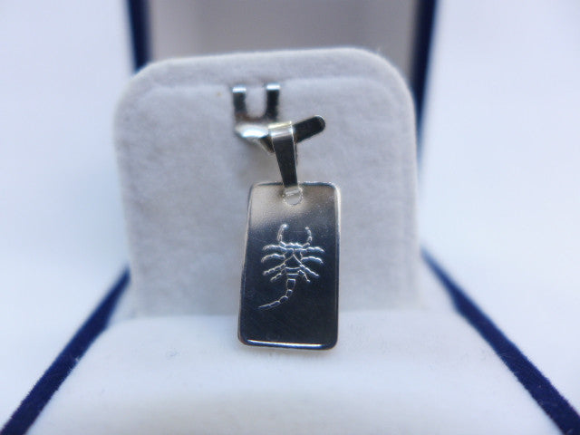 Sterling Silver Small Tablet Cancer Charm