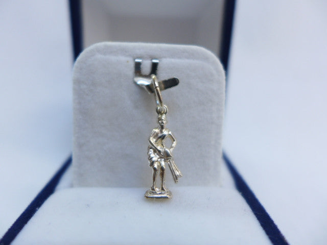 Sterling Silver Aquarius Figure Charm