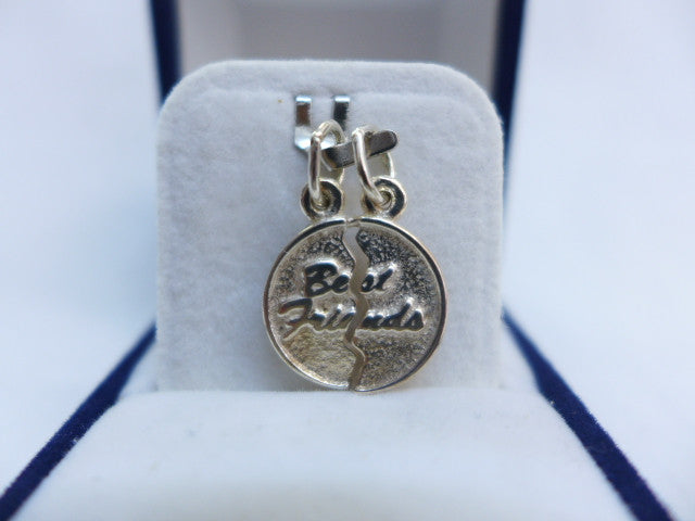Sterling Silver 'Best Friends' Split Charm