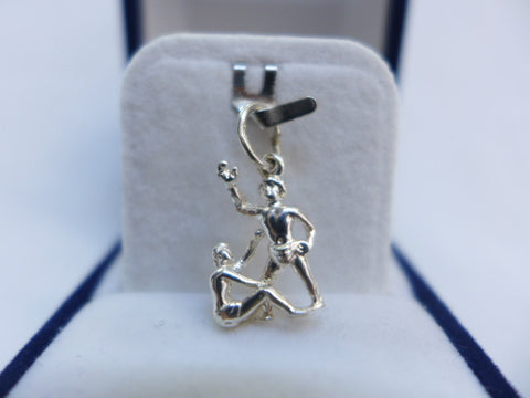 Sterling Silver Gemini Star Sign Charm