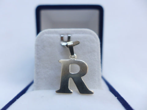Sterling Silver Large Letter R Charm