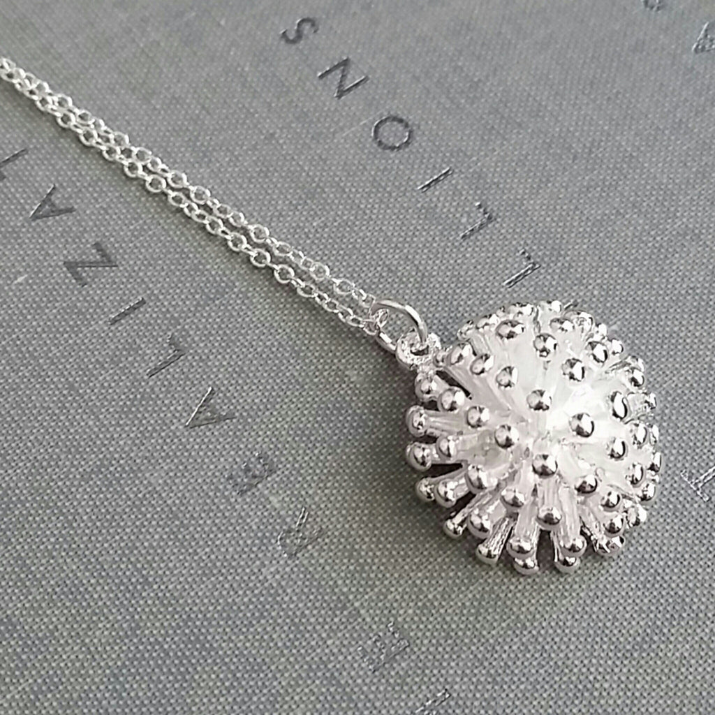 Sterling Dandelion Necklace