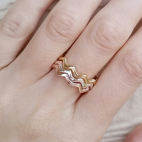 Zigzag Stack Rings