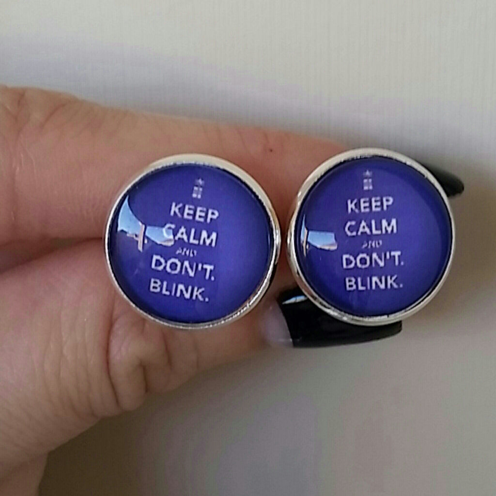 Keep Calm and Don't Blink Earrings