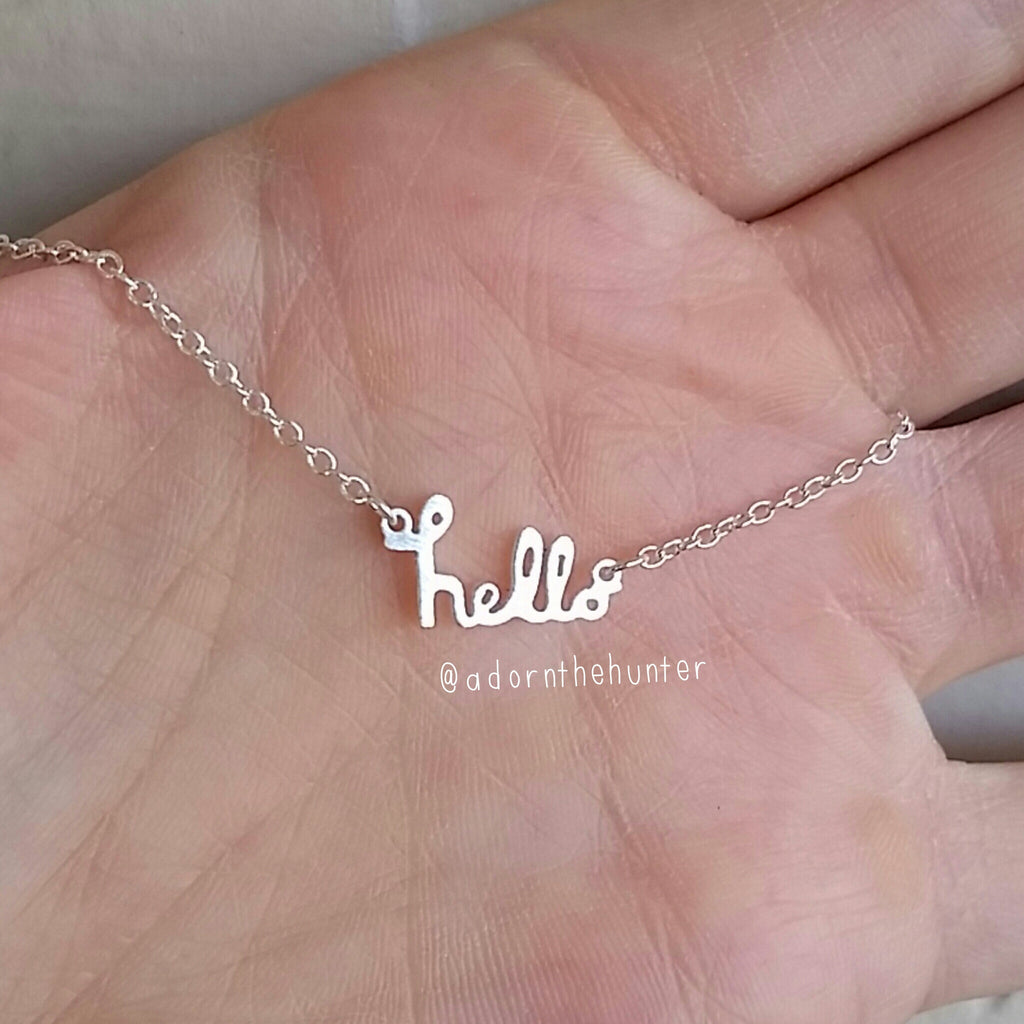 Hello Necklace
