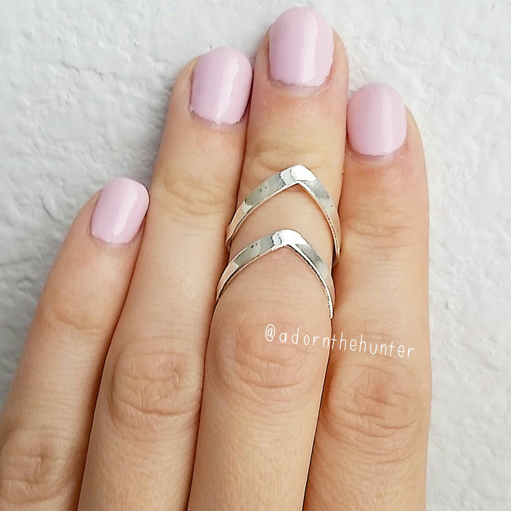 Double Point Midi Ring