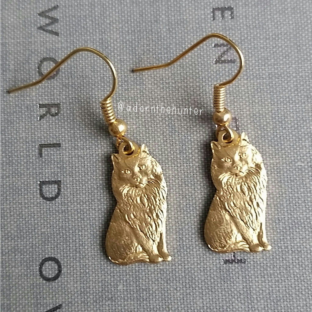 Vintage Kitten Earrings