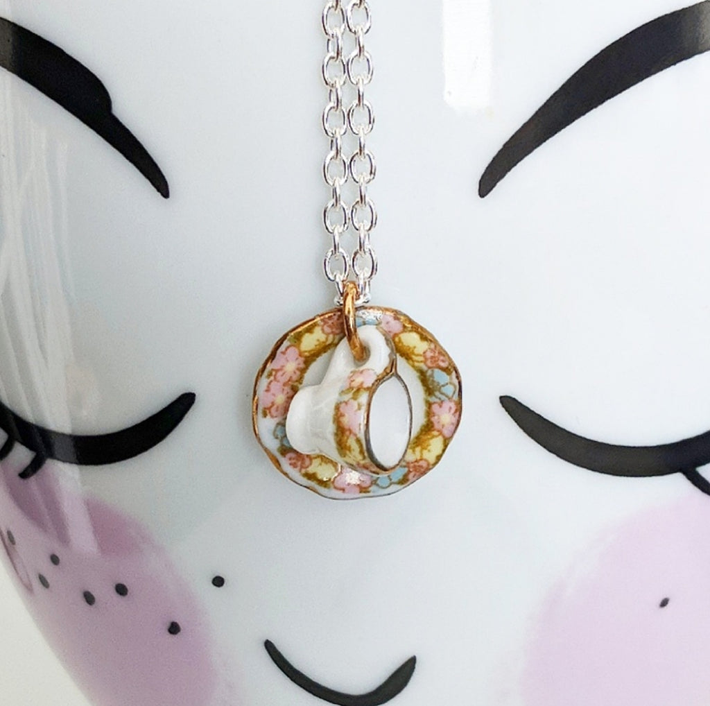 Porcelain Tea Set Necklace