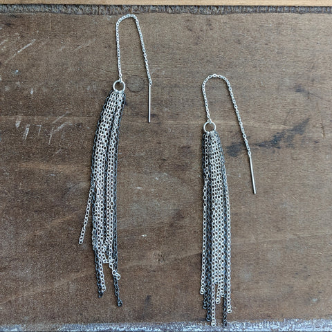 Chain Drape Threader Earrings