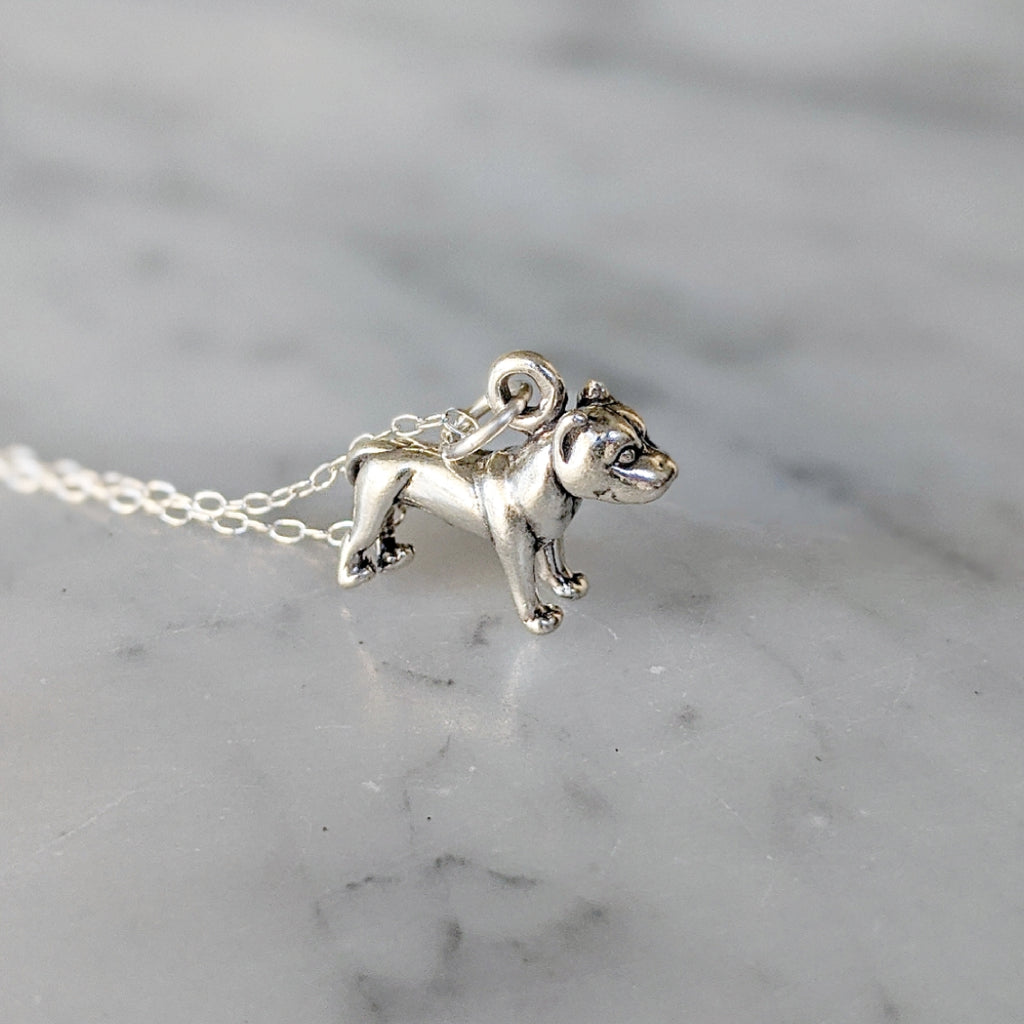 Cropped Ear Pitbull Necklace