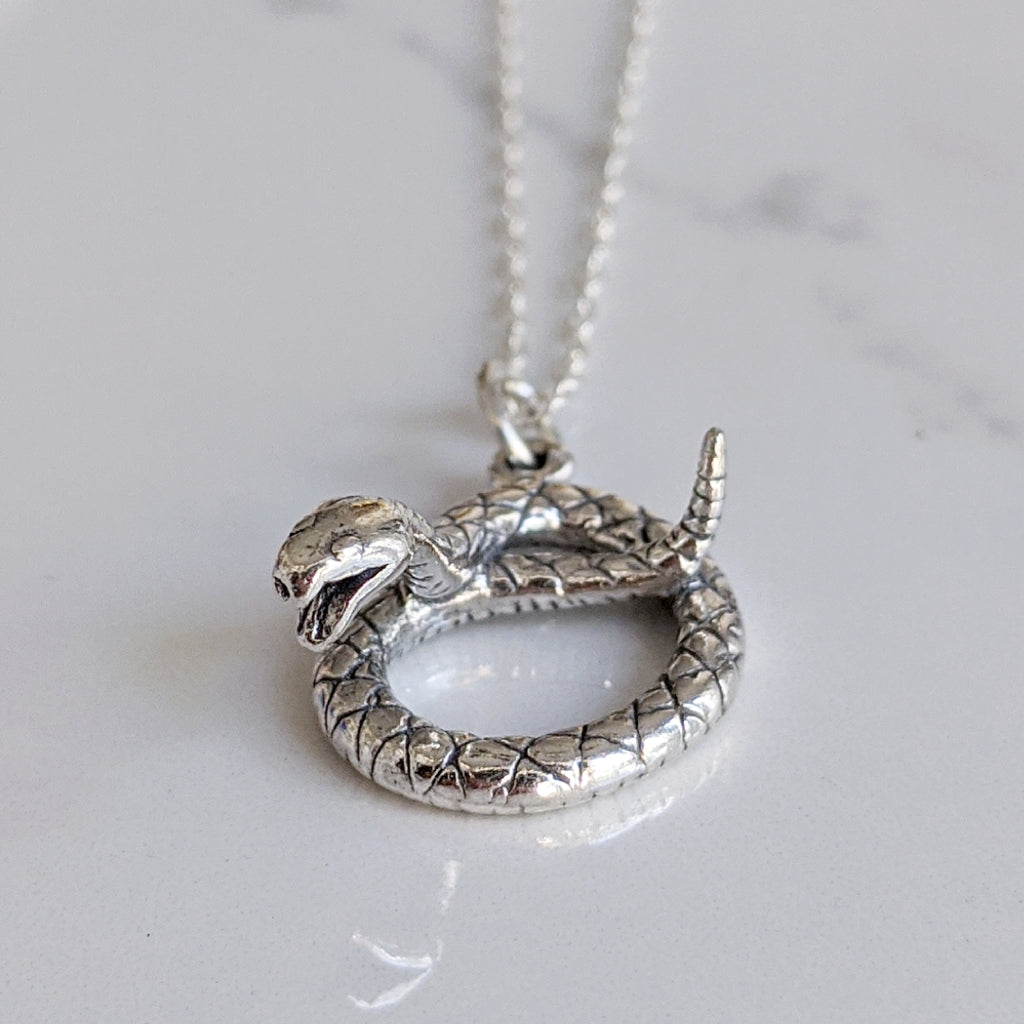 Coiled Snake Necklace