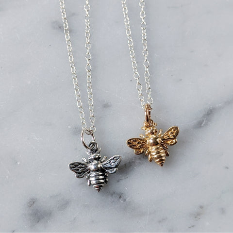 Teeny Bee Necklace