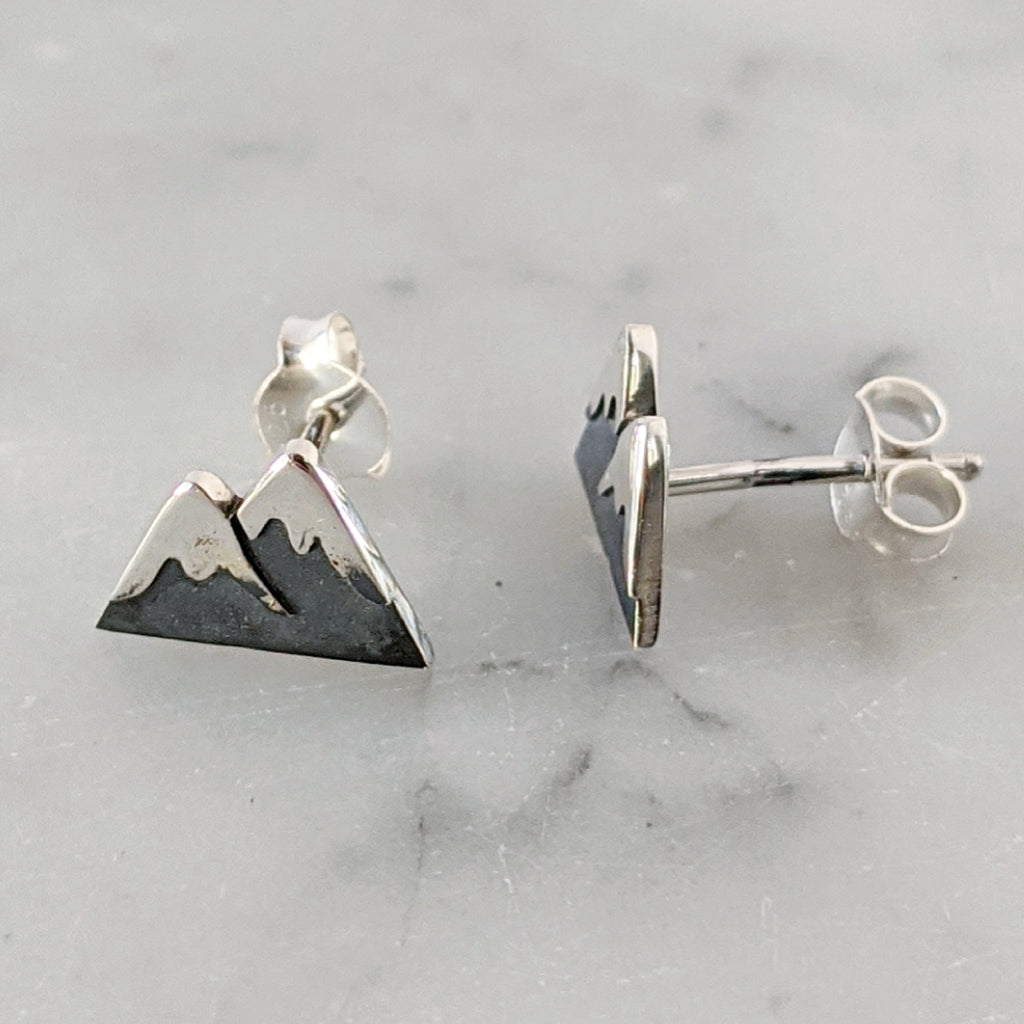 Snow Capped Mountain Earrings