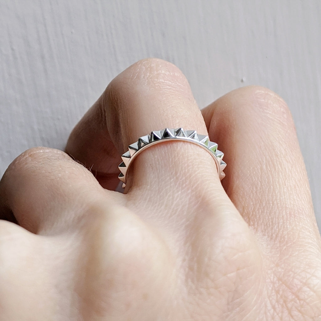 Pyramid Spike Ring