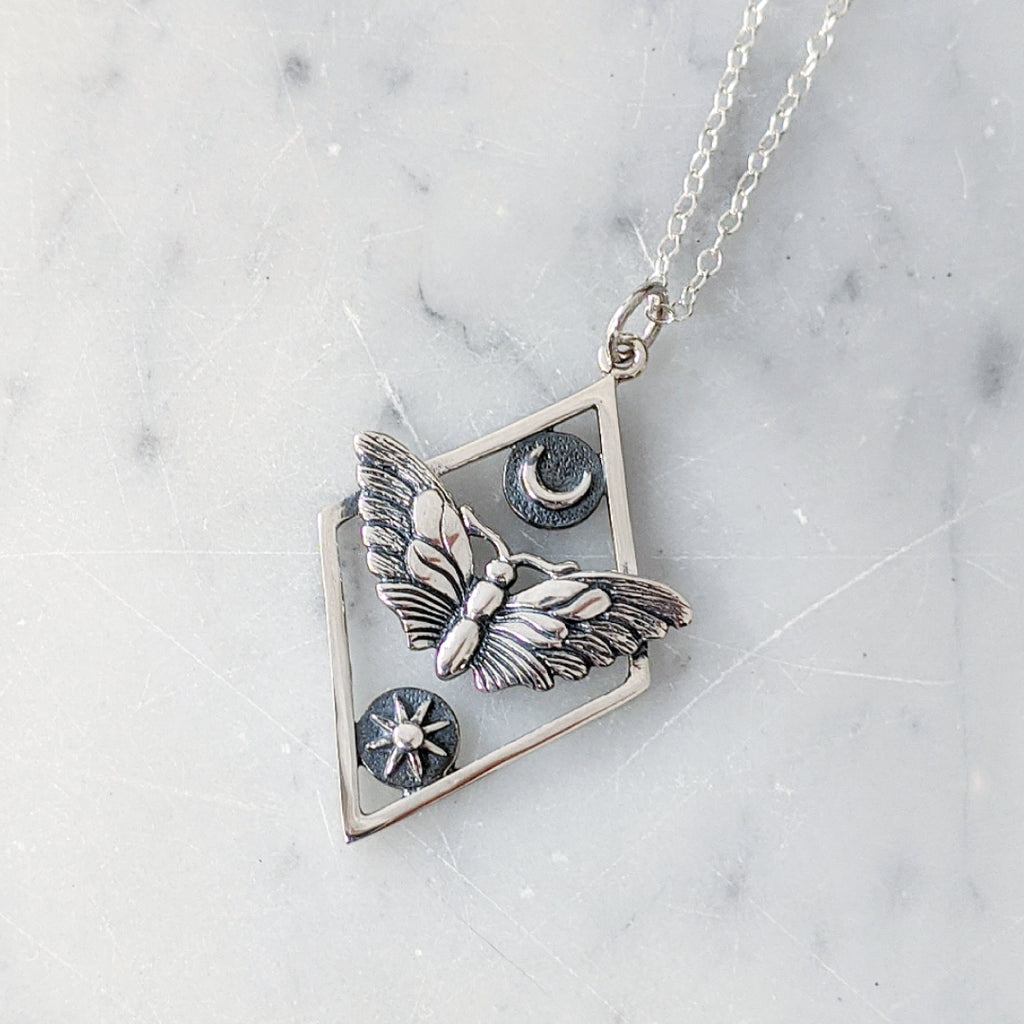 Celestial Moth Necklace