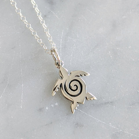 Spiral Sea Turtle Necklace
