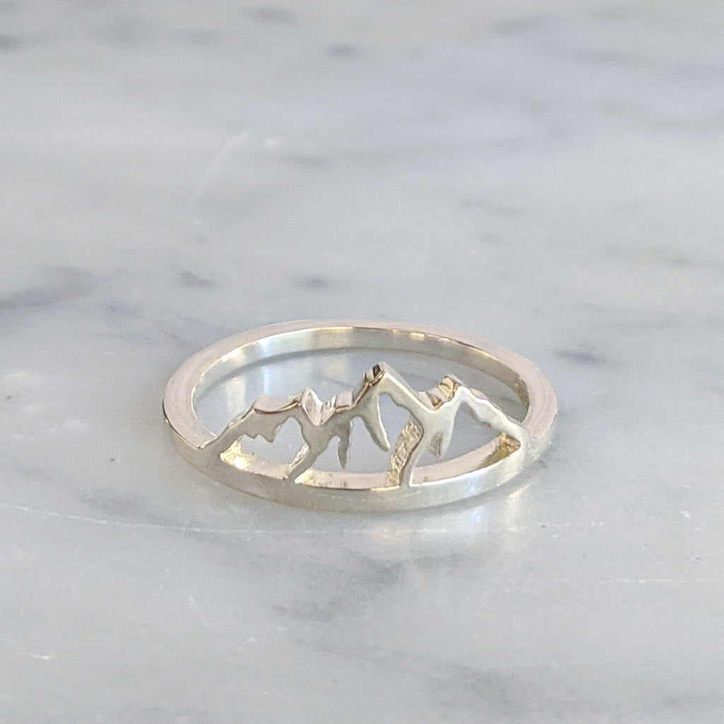 Sterling Mountain Range Ring