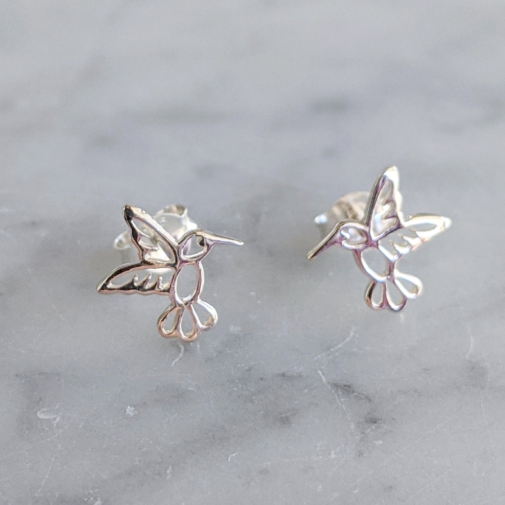 Sterling Hummingbird Earrings