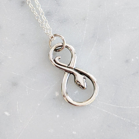Infinity Serpent Necklace