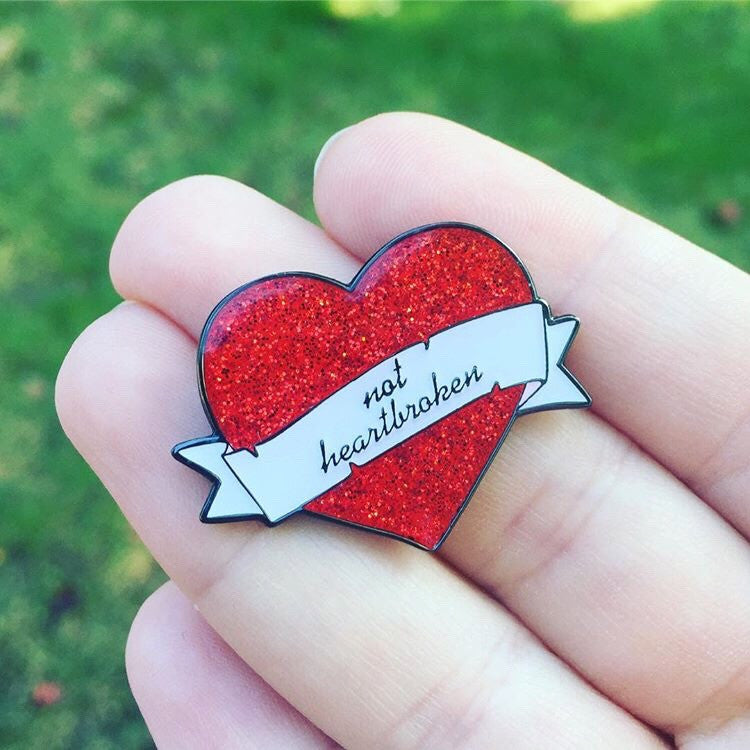Not Heartbroken Pin