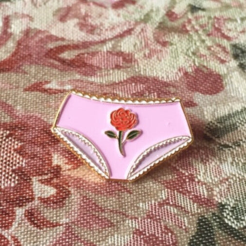 Dainty Rose Underwear Pin