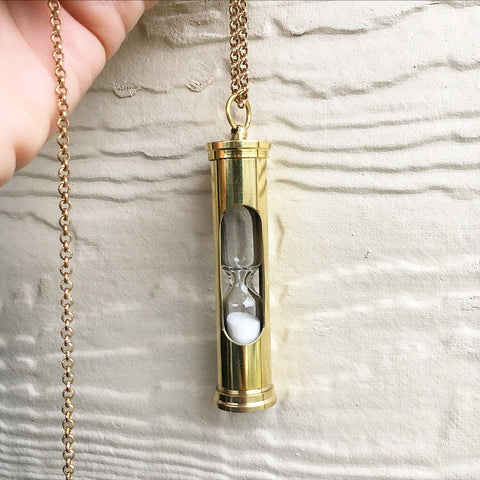 Vintage Hourglass Necklace