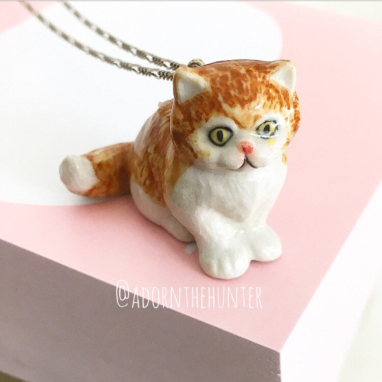 Kitty Figurine Necklace