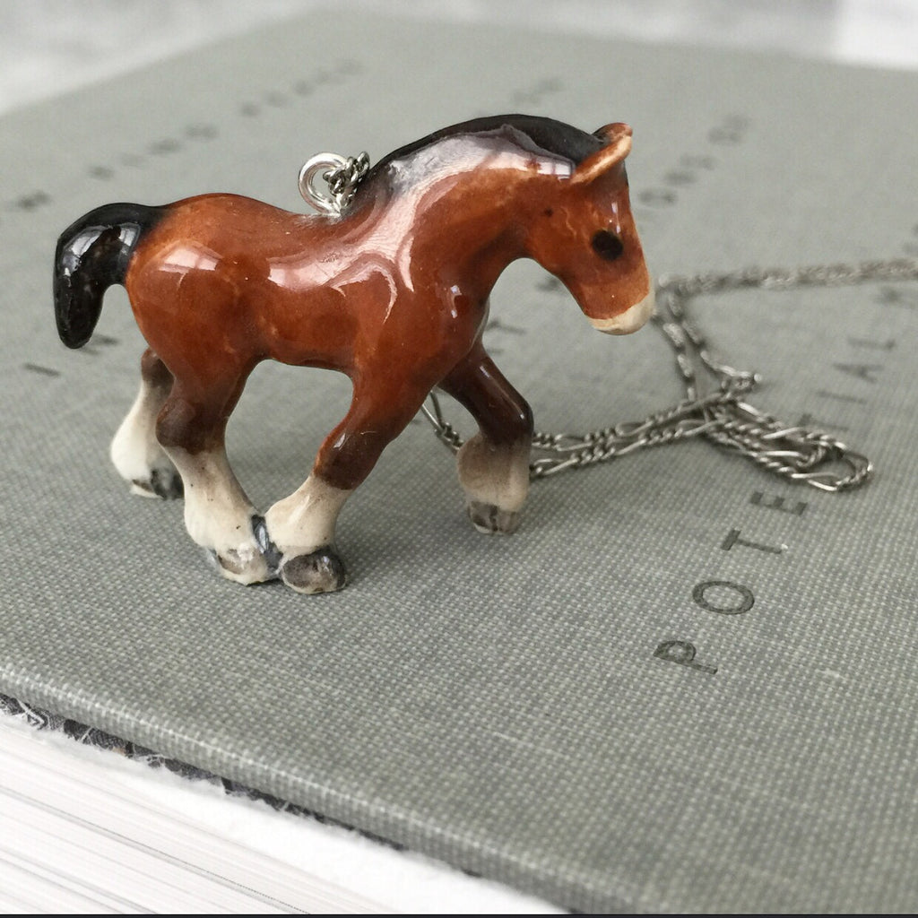 Colt Figurine Necklace