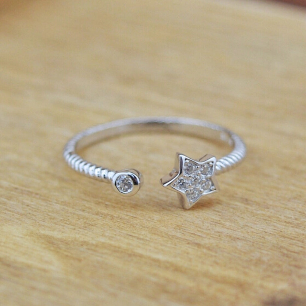 Sterling Star Ring