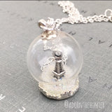 Eiffel Tower Snow Globe Necklaces