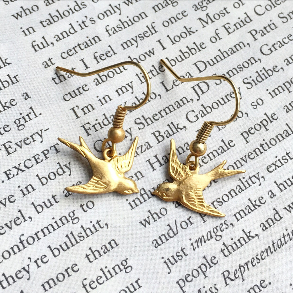 Tiny Sparrow Earrings