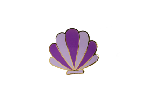Purple Shelly Pin