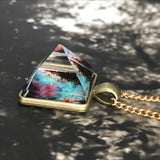 Pyramid Galaxy Necklace