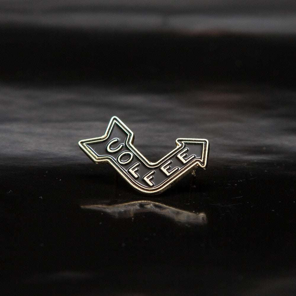 Coffee Arrow Pin