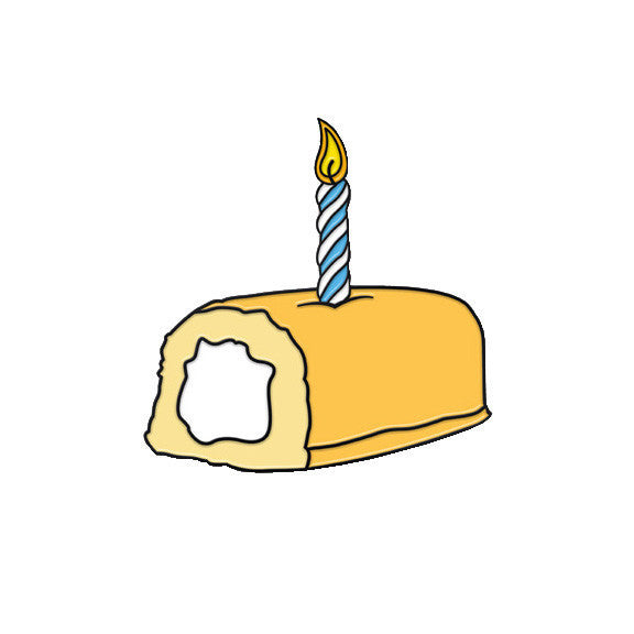 Twinkie Happy Birthday Pin